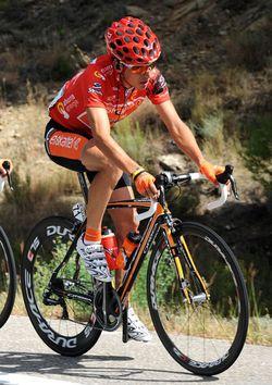 Igor Anton, race leader, Vuelta a Espana 2010, stage 12