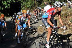 Frank Schleck attacks, Vuelta a Espana 2010, stage 16