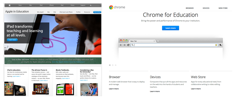 Chrome vs apple
